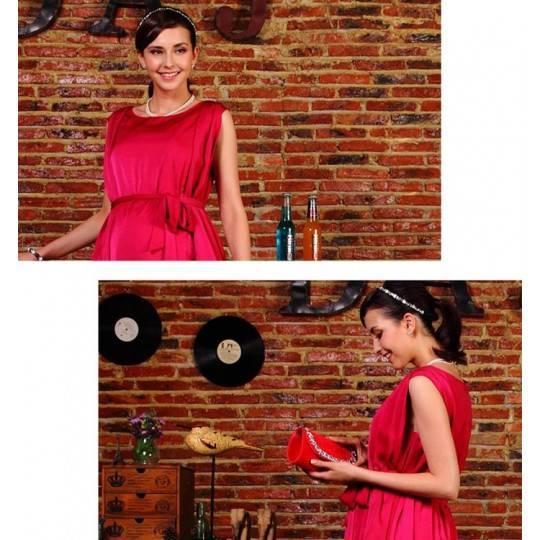A-Line Formal Maternity and Nursing Satin Dress