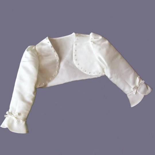 Girl Formal Bolero White 80-130cm