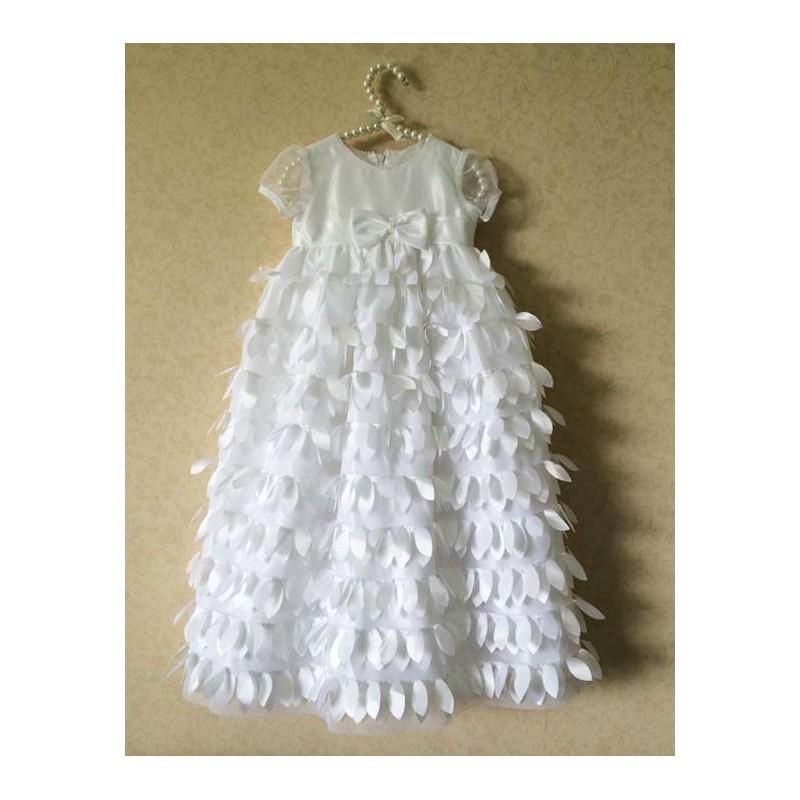 Robe blanche de cérémonie/baptême petite fille 3-24 mois