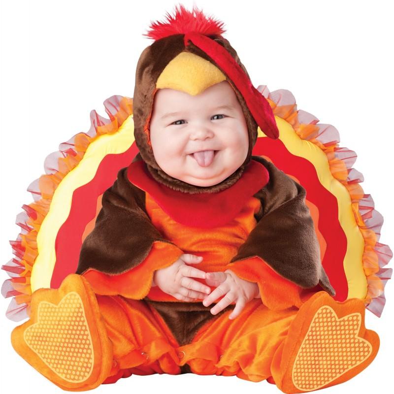 Costume Carnevale Tacchino per Bambino Incharacter 0-24 mesi