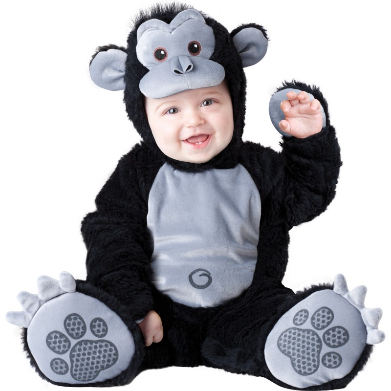Costume Carnevale Gorilla per Bambino Incharacter 0-24 mesi