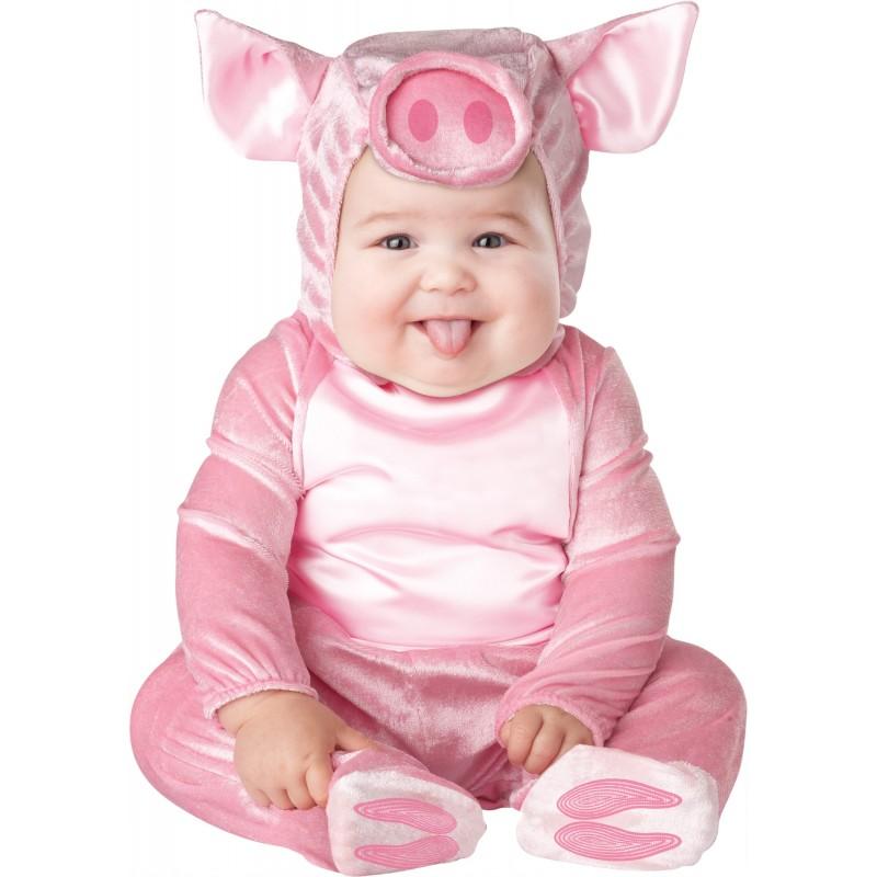 Incharacter Lil' Piggy Costume de Carnaval Enfant Porcelet 0-12 mois