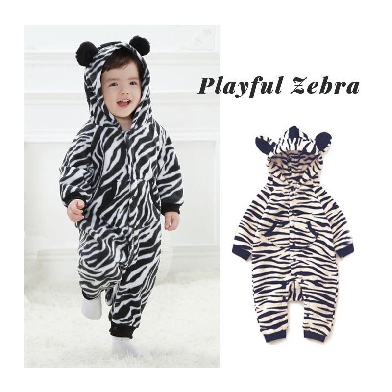 Tutina Costume di carnevale da zebra per bambino e bambina