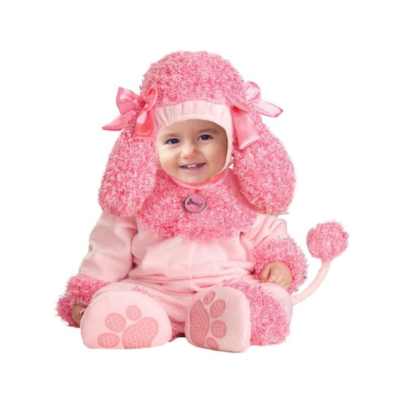 Costume Carnevale Barboncino rosa per bambina 4M-2T