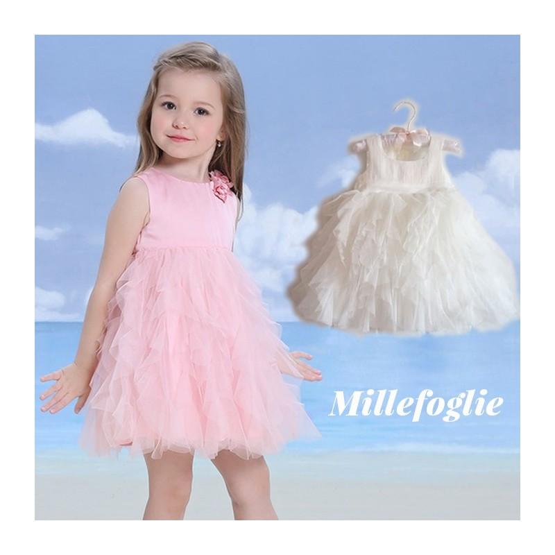 Vestiti Cerimonia Bambina 6 Anni.Abito Rosa Da Damigella Per Bambine Partylook