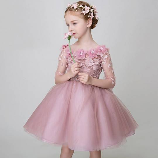 Flower girl formal dress 90-150cm