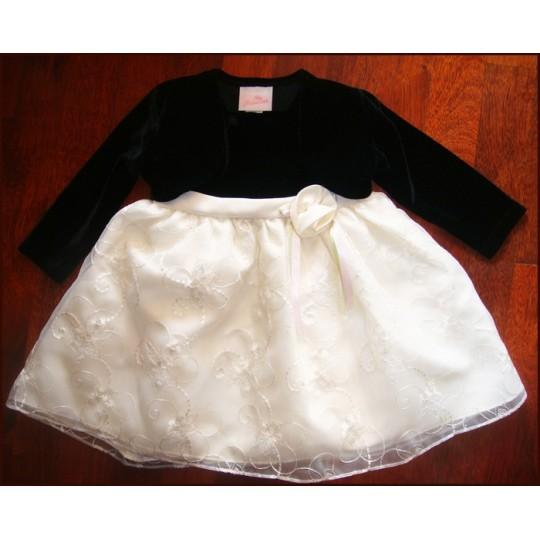 Elegant Baby Girl Bolero Black