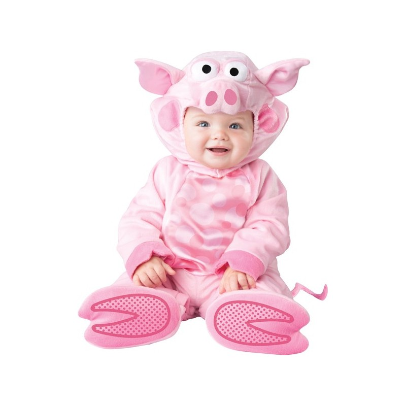 Costume Carnevale Maialino prezioso per bambino Incharacter 0-24 mesi
