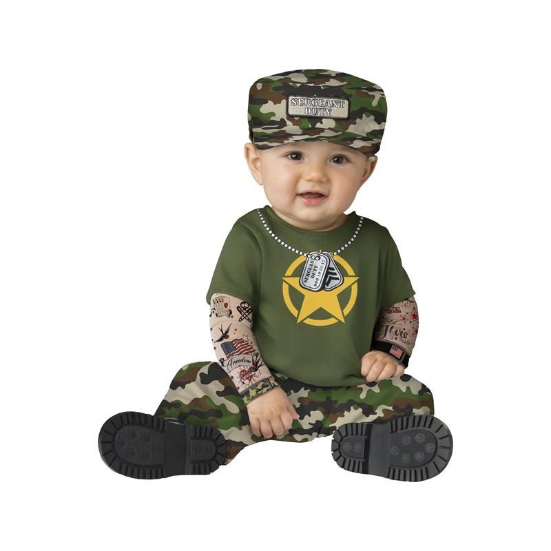 Incharacter Costume de Carnaval Enfant de Sergent 6-24 mois