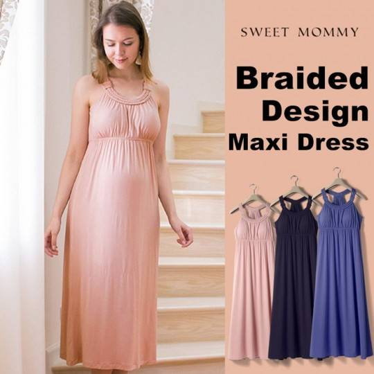 Maternity and nursing maxi dress