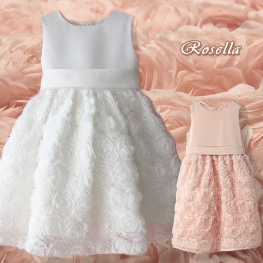 "Baby Flower Girl Formal Dress ""Rosella"" 6M-10T"