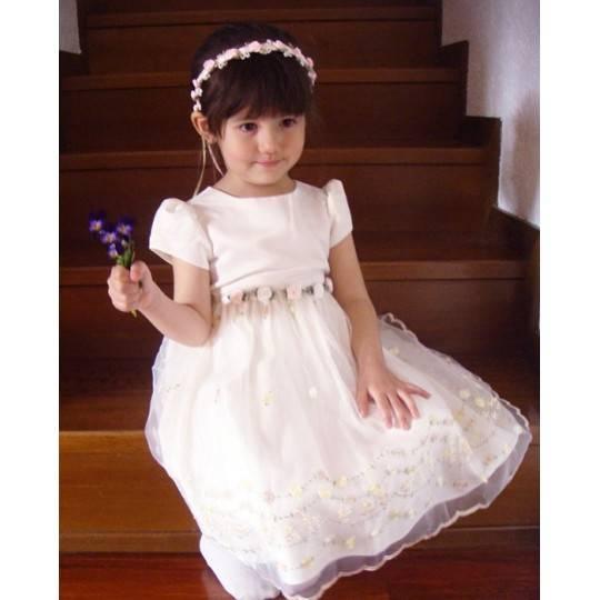 Baby Flower Girl Formal Dress White 2-5 years