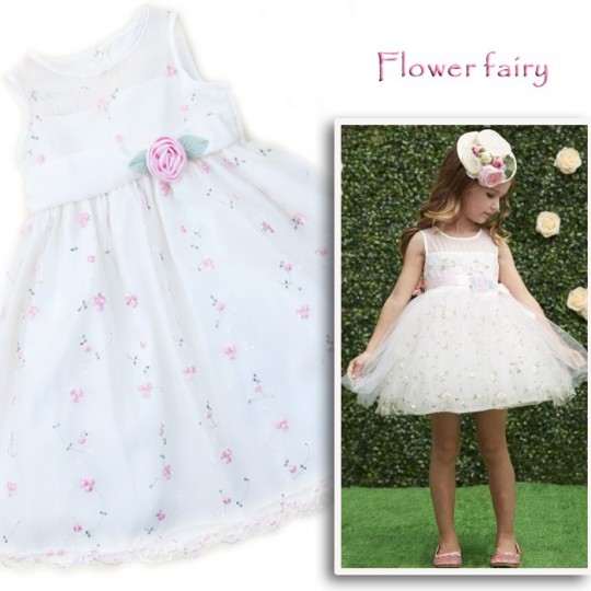 """Flower fairy"" - Flower Girl Formal Dress 4T"