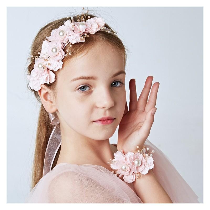 Serre-tête décoré de cérémonie pour petite fille