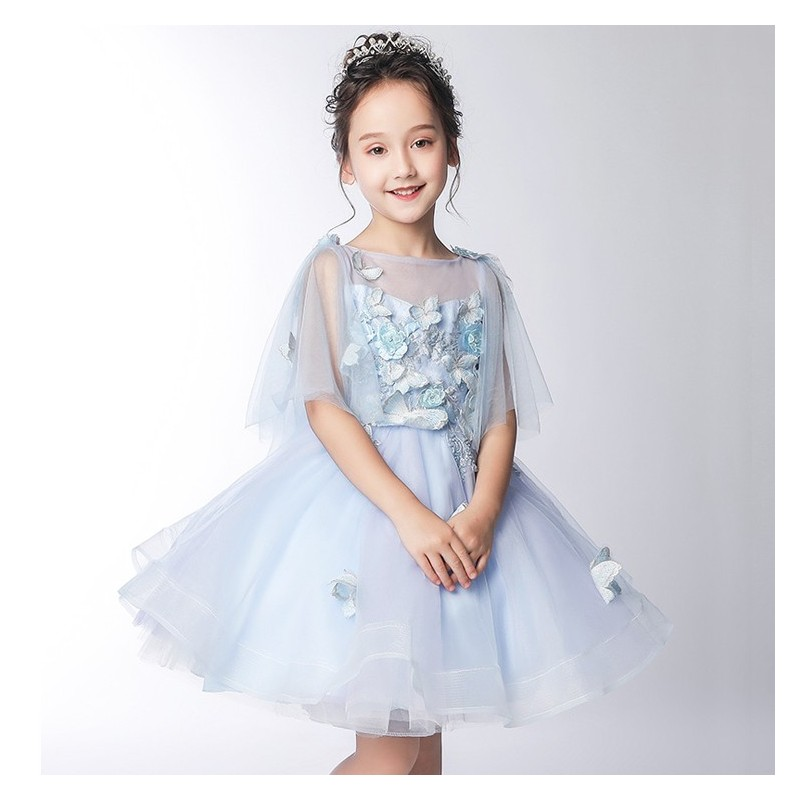 Flower girl formal dress 3/4 sleeves 100-150 cm