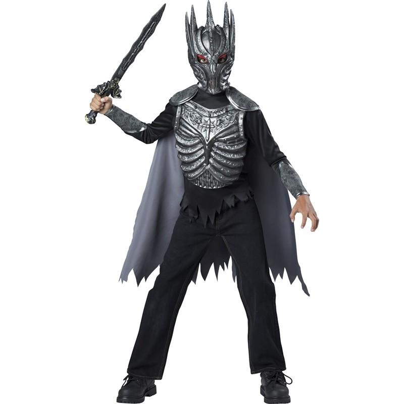 Costume Carnevale Halloween Cavaliere Oscuro 5-12 anni