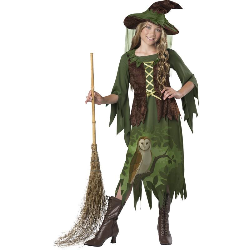 Incharacter Costume de Carnaval Sorcière du bois 8-14 ans