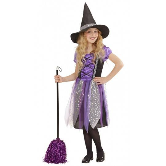 Purple little witch costume 5-13 years