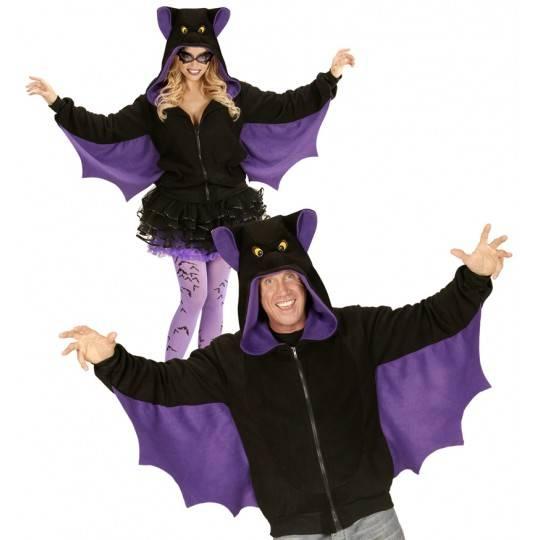Halloween and carnival bat sweatshirt for adults