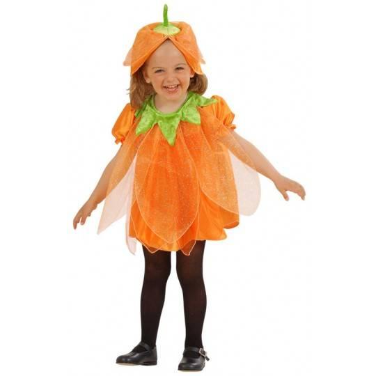 Costume Zucca Halloween bambina 1-3 anni