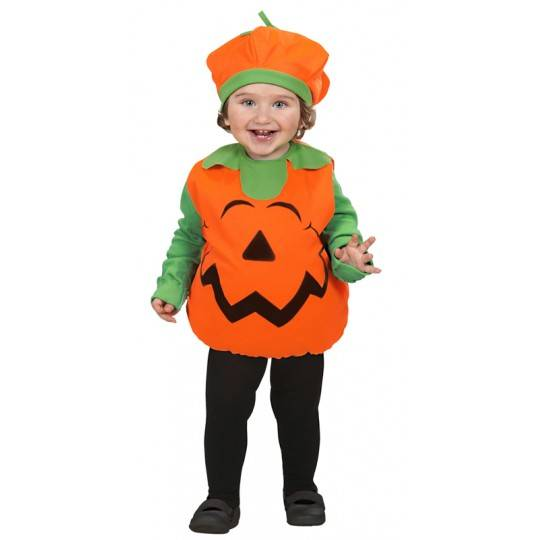Costume Citrouille de Halloween unisexe 1-3 ans