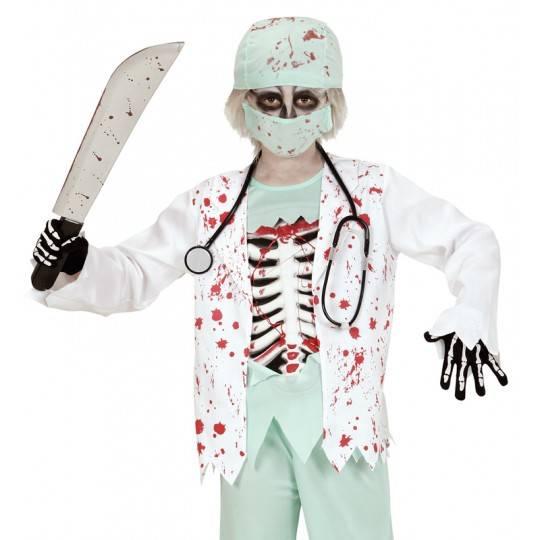 Costume dottore zombie 5-13 anni
