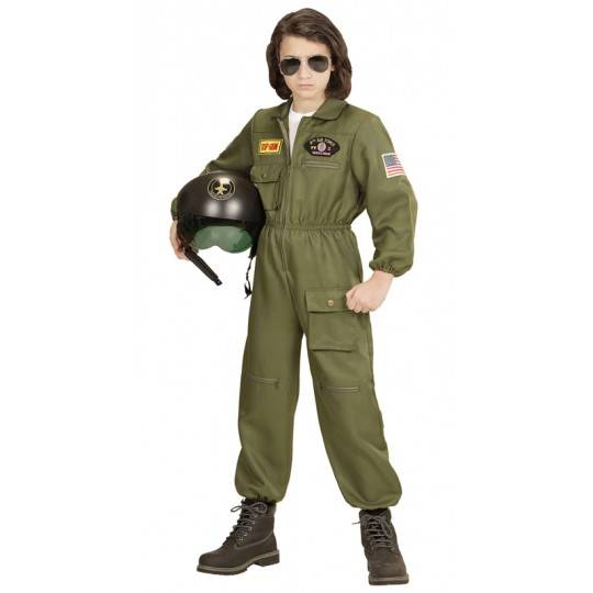 Fighter jet pilot costume 8-13 years