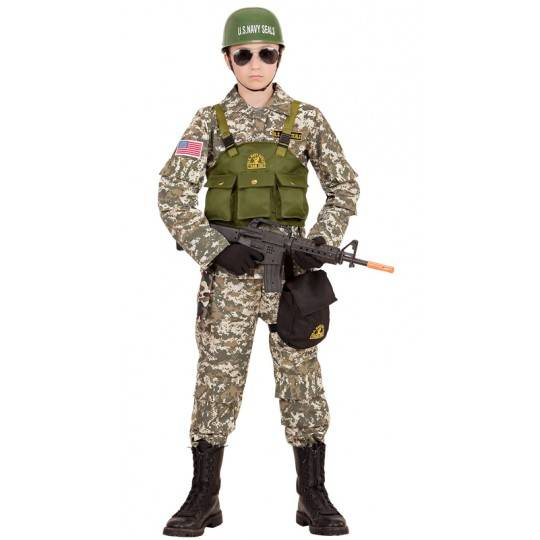 Costume Soldato Marines Navy Seal 8-13 anni