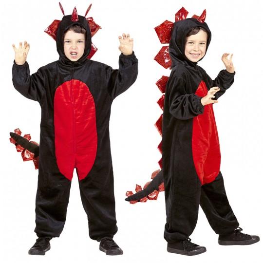 Costume Drago nero in peluche 4-5 anni