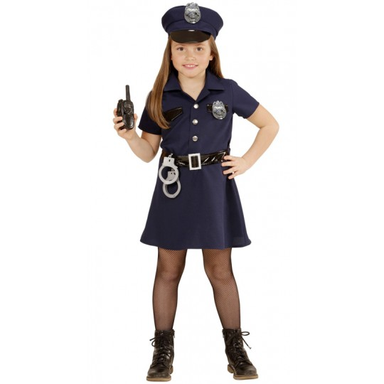Policewoman costume 4-13 years