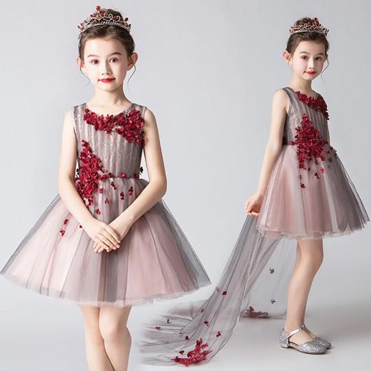 Robe de cérémonie fille-demoiselle d'honneur 110-150cm