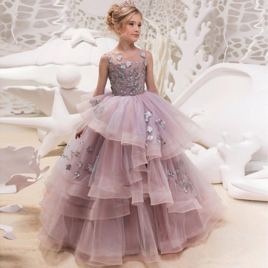 Flower girl formal dress 100-160cm