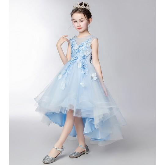 Robe bleu clair de cérémonie fille demoiselle d'honneur 110-160cm
