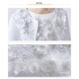 Embroidered Girl Formal Bolero White 90-160cm