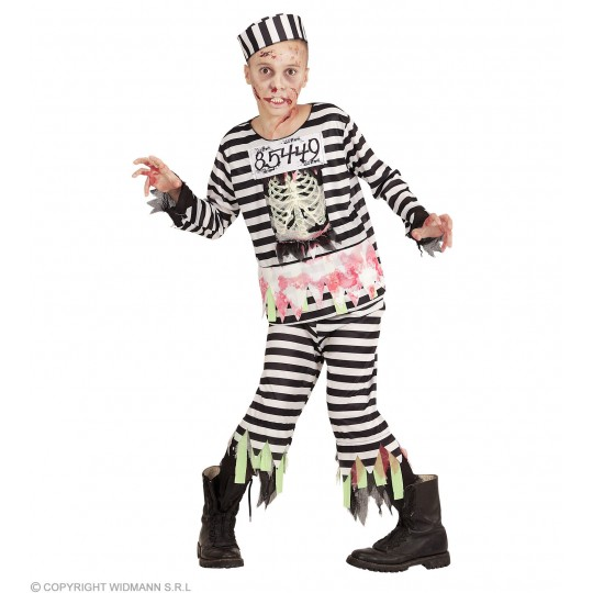Zombie Prisoner Costume 5-13 years