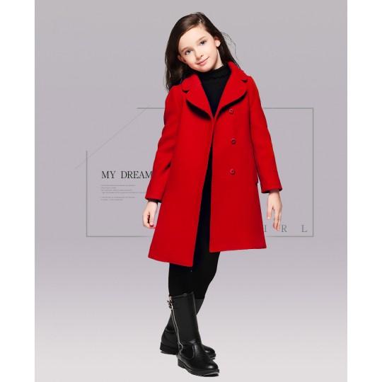 Manteau rouge fille cadeau de Noël 110 -120cm