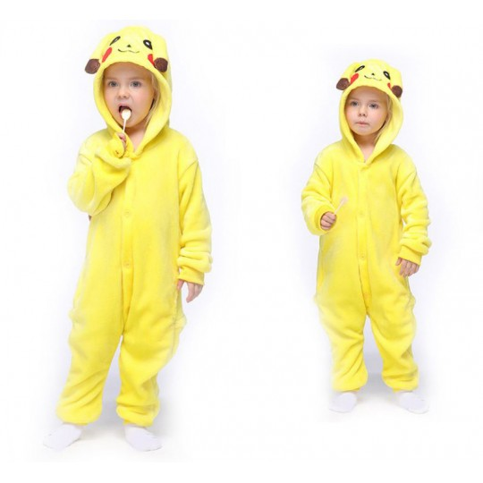 Picachu Costume Pyjamas 4-12 years