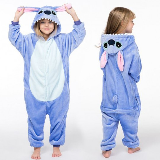 Costume Pigiama Animale Blu 3-10 anni