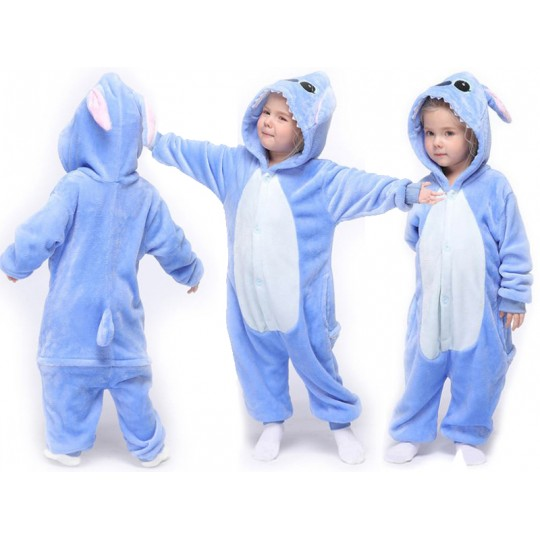 Blue Animal Costume Pyjamas 3-10 years