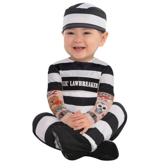Costume de prisonnier 3-24 mois