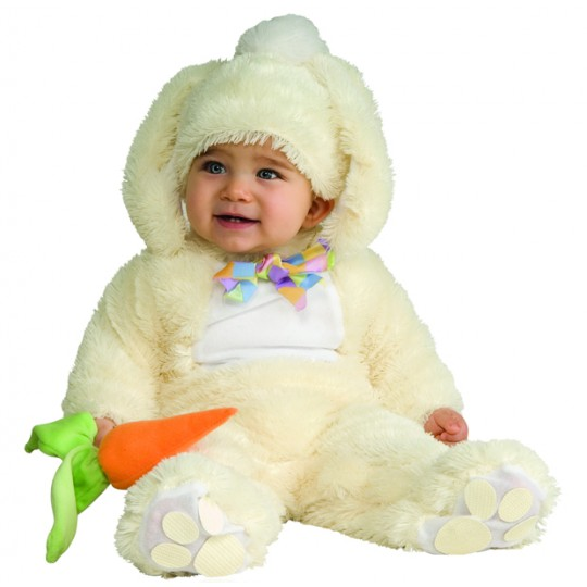 Baby Costume White Bunny Unisex 6-18 months