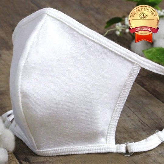 Washable re-usable face mask with organic cotton inner side