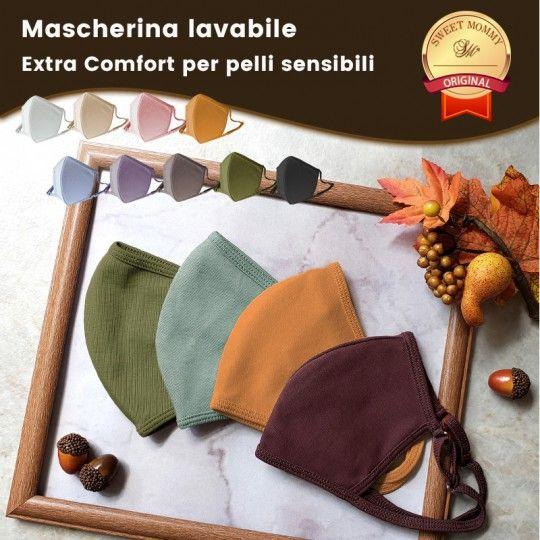 Mascherina lavabile Extra Comfort per pelli sensibili