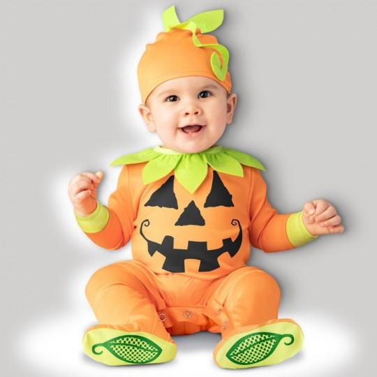 Costume Carnevale Zucca di Halloween Incharacter 0-24 mesi