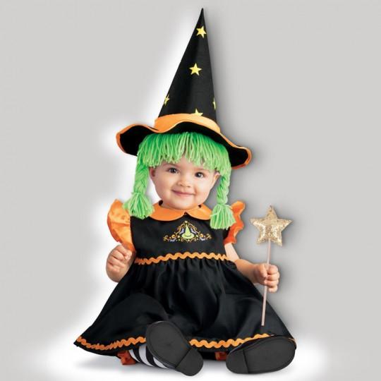 Costume Halloween Streghetta per Bambina Incharacter 0-24 mesi