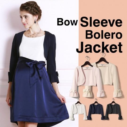 Bow sleeve bolero jacket